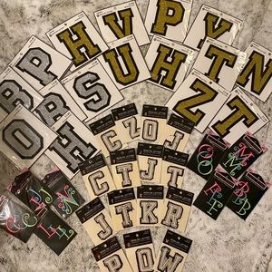 NWT Crafters Paradise! 39 Iron On Letters